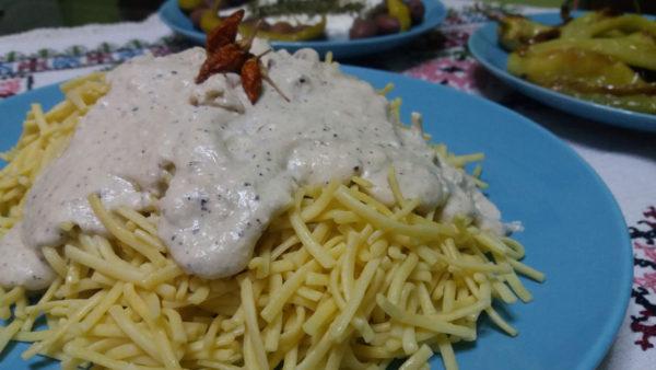 Χυλοπίτες με σάλτσα Φέτας