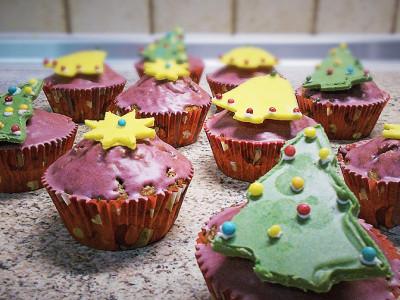 Χριστουγεννιάτικα Cupcakes Σοκολάτας - Christmas Chocolate Cupcakes