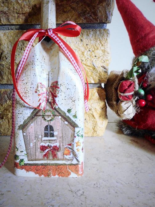 Χριστουγεννιάτικα Φτυαράκια Ντεκουπάζ - Christmas Shovel Decoupage