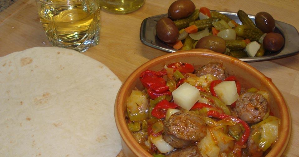 Μπεκρή Μεζές - Greek Sausage Appetizer