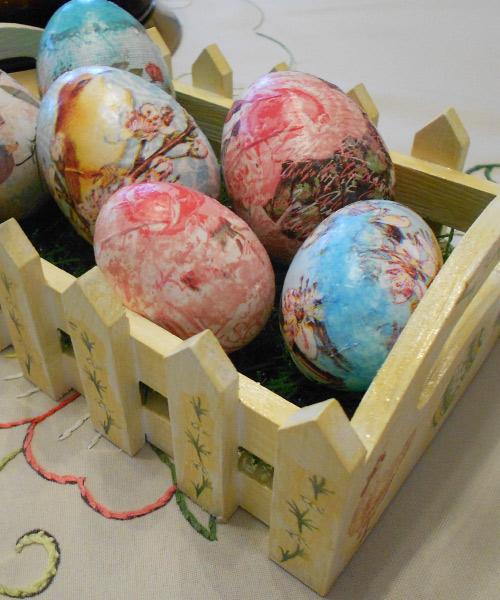 Πασχαλινό Τελάρο Ντεκουπάζ - Easter Egg Case with Decoupage