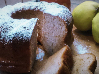 Κέικ Κυδώνι με Άρωμα Κανέλας - Quince Cake with Cinnamon