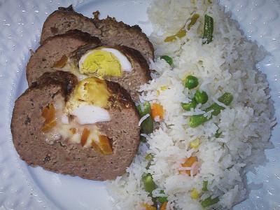Ρολό Κιμά Γεμιστό με Αυγά - Stuffed Meat Roll with Eggs