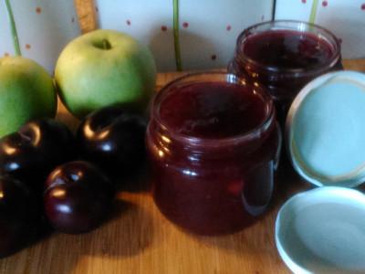 Σπιτική Μαρμελάδα Δαμάσκηνο Βανίλια και Μήλο - Homemade Plum and Apple Jam