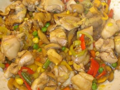 Κοτόπουλο στο Γουόκ με Πλιγούρι - Chicken with Groat in Wok