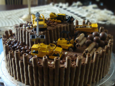 Καπρίς Τούρτα Γενεθλίων Εργοτάξιο - Caprice Birthday Cake