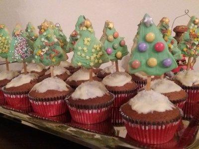 Χριστουγεννιάτικα Μπισκοτοδεντράκια
